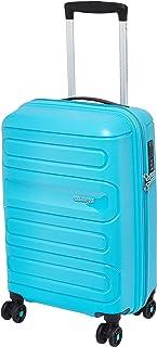 حقيبة سفر صغيرة الحجم من American Tourister Sunside من أجل السفر باللون الأزرق الفيروزي المتطاير، مقاس 55 سم