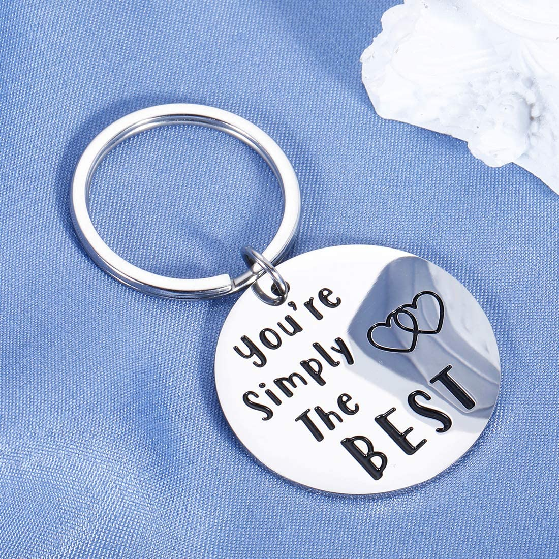 Couple Gifts for Him Her Wedding Anniversary Keychain for Boyfriend Girlfriend Birthday Best Friend Graduation for Fans Lover Husband Wife Women Men You're Simply The Best Keyring