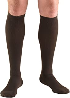 Truform Compression Socks, 30-40 mmHg, Men's Dress Socks, Knee High Over Calf Length, Brown, X-Large
