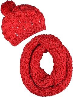 ORSKY Women's Winter Beanie Hat Infinity Scarf Set Warm Knit