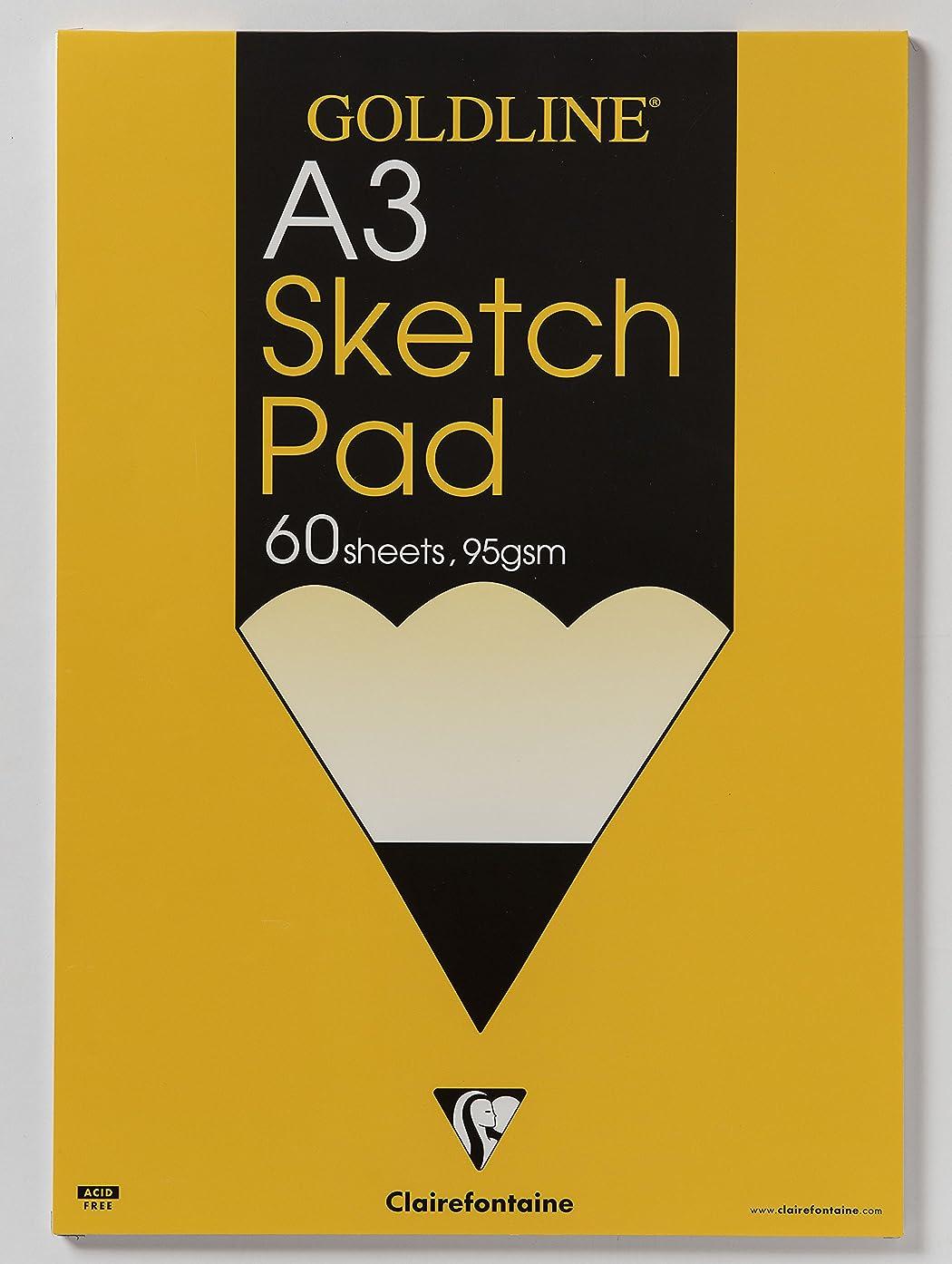 Goldline : Glued Sketch Pad : 95gsm : A3 29.7x42cm