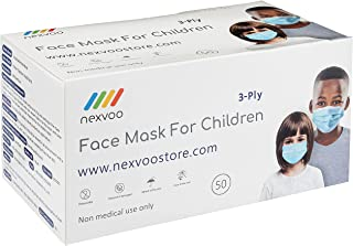 Nexvoo 3ply Face Masks 100pcs - Disposable 3-Layered Breathable Masks