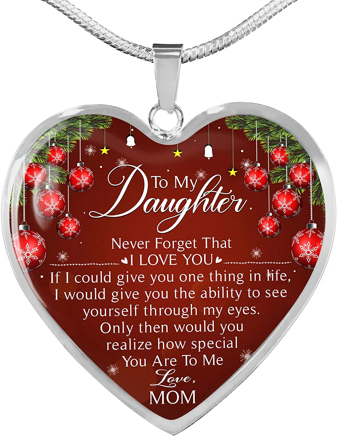 TeezWonder Genuine OFFicial Free Shipping Pendant Necklace with to Chain-Mom Christmas Daughter