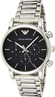 Emporio Armani Chronograph Men's Black Dial Stainless Steel Band Watch - AR1853