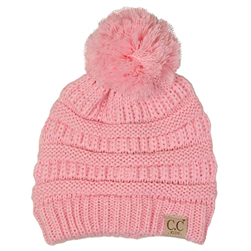 0f8e9241f77 Funky Junque Kids Baby Toddler Cable Knit Children s Pom Winter Hat Beanie