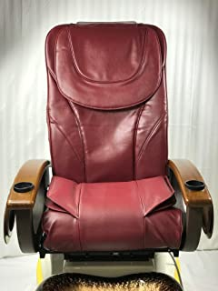 Pedicure Chair Back Support/Bottom-Air Seat Cover Cushion Set Type C2/Burgundy Color