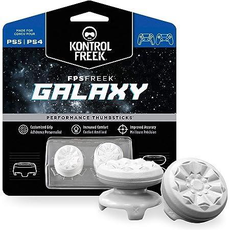 KontrolFreek FPS Freek Galaxy Bianco per PlayStation 4 (PS4) e PlayStation 5 (PS5)   Levette Performance   1 alta, 1 media   Bianco