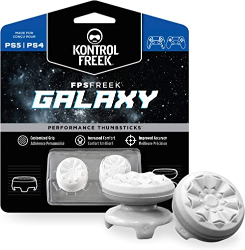 KontrolFreek FPS Freek Galaxy White for Playstation 4 (PS4) and Playstation 5 (PS5)   Performance Thumbsticks   1 Hig...