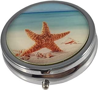 Starfish Three Compartment Small Daily Pocket/Purse/Travel Pill Box Case