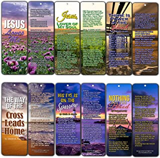 Hymn Christian Bookmarks (12-Pack) 7 X 2.2 in