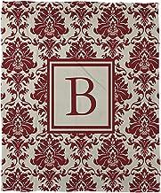 بطانية صوف مرجان من Manual Woodworkers & Weavers مقاس 76.2 سم × 101.6 سم، حرف B، قرمزي دمشقي