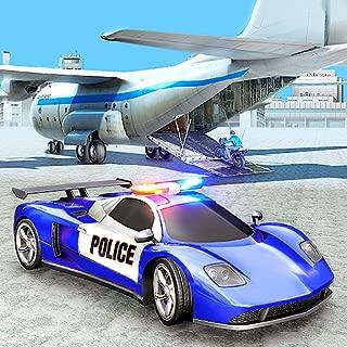 Crime Town Police Car Transport Simulator 2019 : Heavy Trailer Truck Tycoon Cargo Plane Police Car Transporter Simulator Mania Adventure Free For Kids