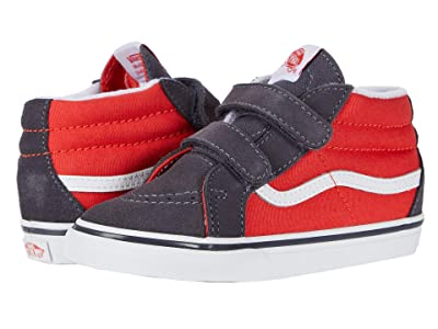 Vans Kids Sk8-Mid Reissue V (Infant/Toddler) ((Two-Tone) Grenadine/Periscope) Boys Shoes