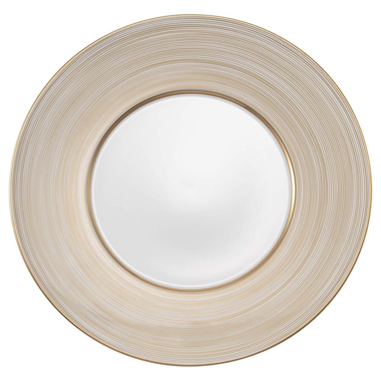 祈りルーム仕方NARUMI(ナルミ) プレート 皿 ゴールド渦バンド ゴールド 27cm 日本製 51722-5666