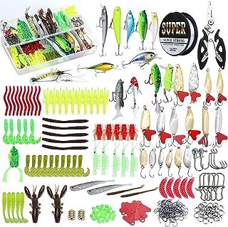 HENCETO86/96/280pcsFishing Lures Baits Fishing Tackle Kit...