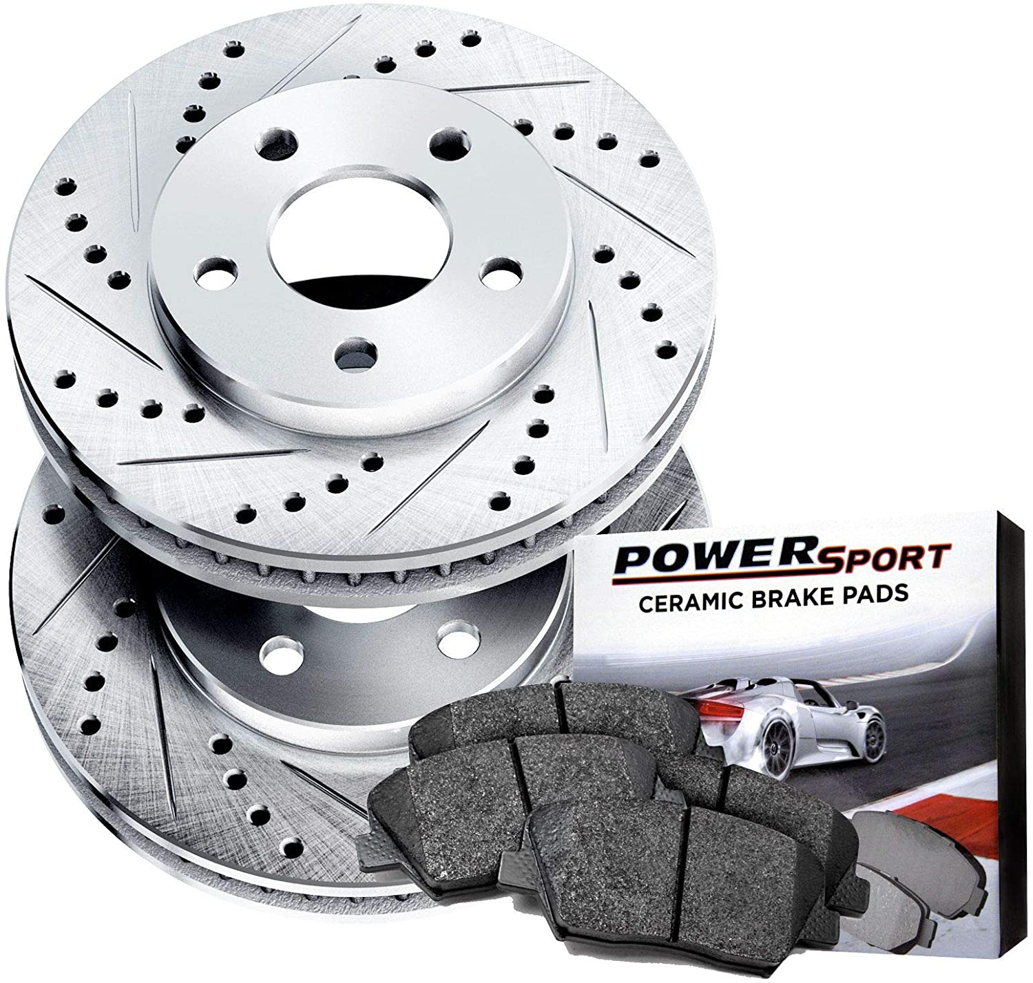 Power Sport Cross Complete Free Shipping Drilled Slotted Ceramic Special Campaign and Brake Rotors