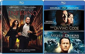 Tom Hanks Da Vinci Code Trilogy Blu Ray The Da Vinci Code / Angels & Demons / Inferno Pack 3 Movie Set