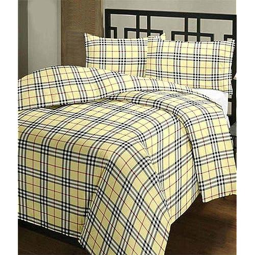 gemshop Factorywala Super Soft Check Print Poly Cotton Reversible Single AC Dohar/Blanket (Brown)