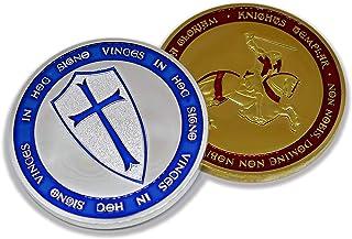 Knight Crusader - Colección de Monedas conmemorativas chapadas en Oro y Plata