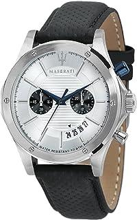 MASERATI Mens Chronograph Quartz Watch with Leather Strap R8871627005