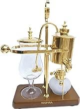 Nispira Belgian Belgium Luxury Royal Family Balance Syphon Siphon Coffee Maker Gold Color, 1 set
