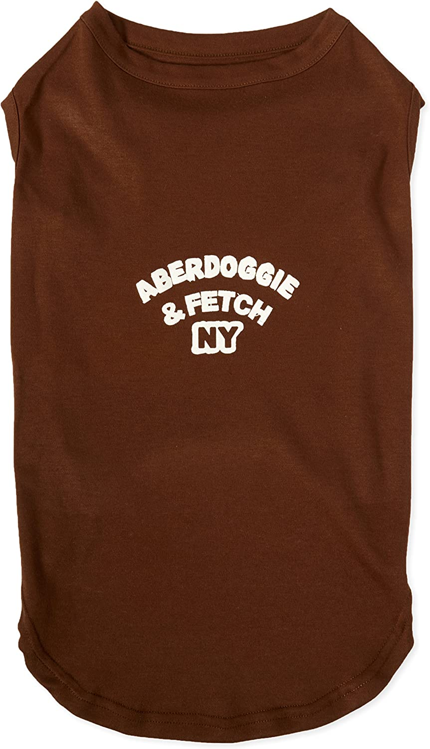 Mirage Pet Products 20Inch Aberdoggie New York Screenprint Shirts, 3XLarge, Brown