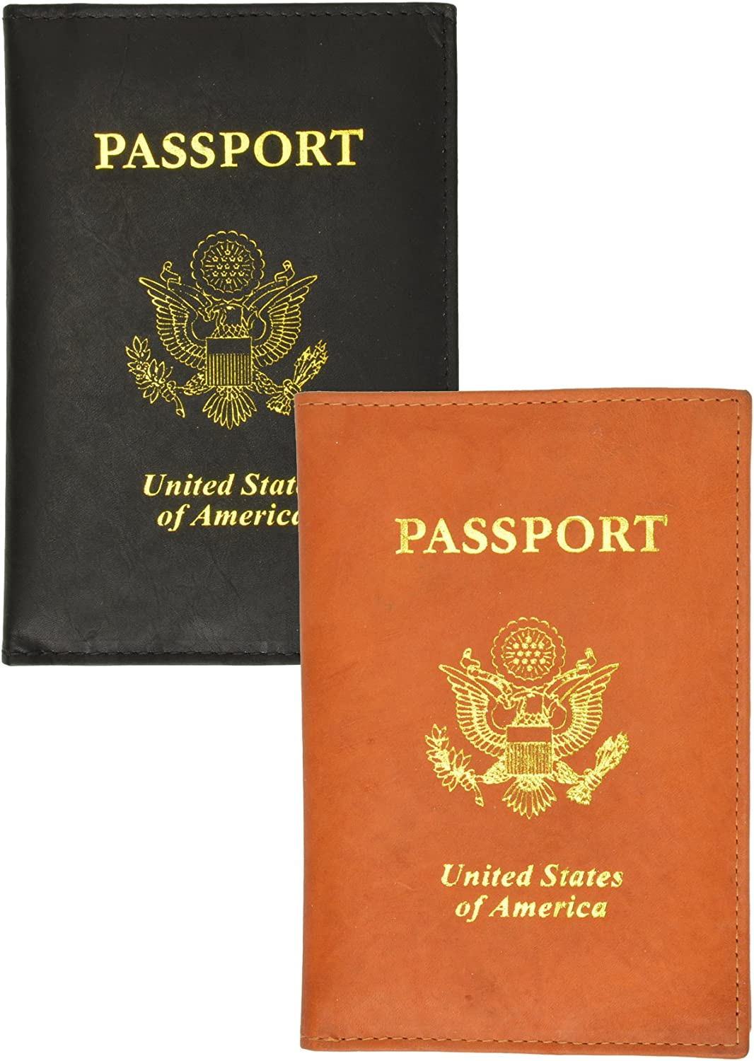 2 Passport Cover Holders Genuine Leather Fashionable ID Free shipping New Wallet T Case Travel