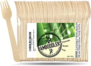 """Disposable Wooden Forks by Bamboodlers 