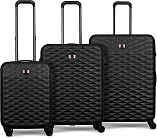 Wenger 604333 Lumen Hardside Luggage Set, Black, 77 Centimeters