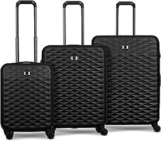 Wenger 604333 Lumen Hardside Luggage Set, Black, 77 Centimeters