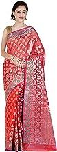 Chandrakala`s Women`s Cotton Silk Blend Indian Ethnic Banarasi Saree with unstitched Blousepiece(1081)