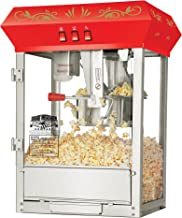 6100 Great Northern Popcorn Red Countertop Foundation Popcorn Popper Machine, 8 Ounce
