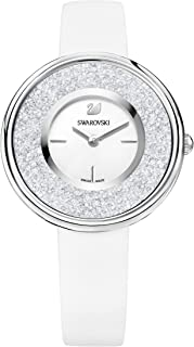 Swarovski Women's White Dial Leather Band Watch - 5275046