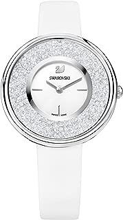 Swarovski Women's White Dial Leather Band Watch - 5275046
