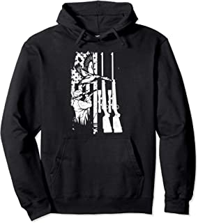 Duck Hunting USA Flag Rifle Hunt Duck Shooting Waterfowl Pullover Hoodie