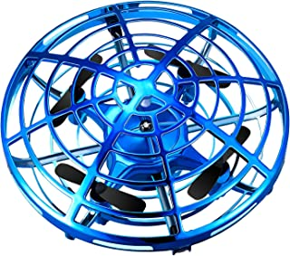 Veken Hand Operated Drones for Kids, Hands-Free Mini Drone Helicopter, Flying Ball Drone Toys for Boys and Girls (Blue)