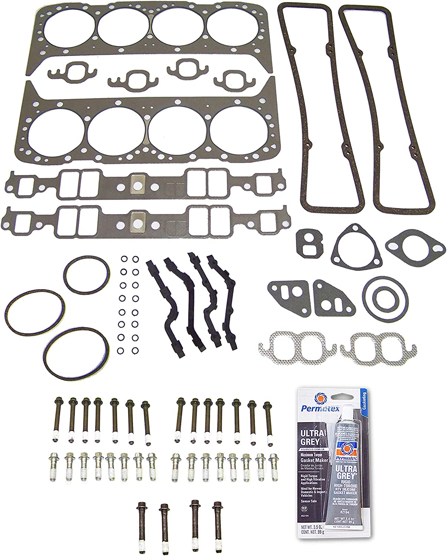 Head Gasket Set Bolt Kit Fits: 62-80 Classic V8 4.9L-5.7L OHV 1 4.6L GMC Washington Mall