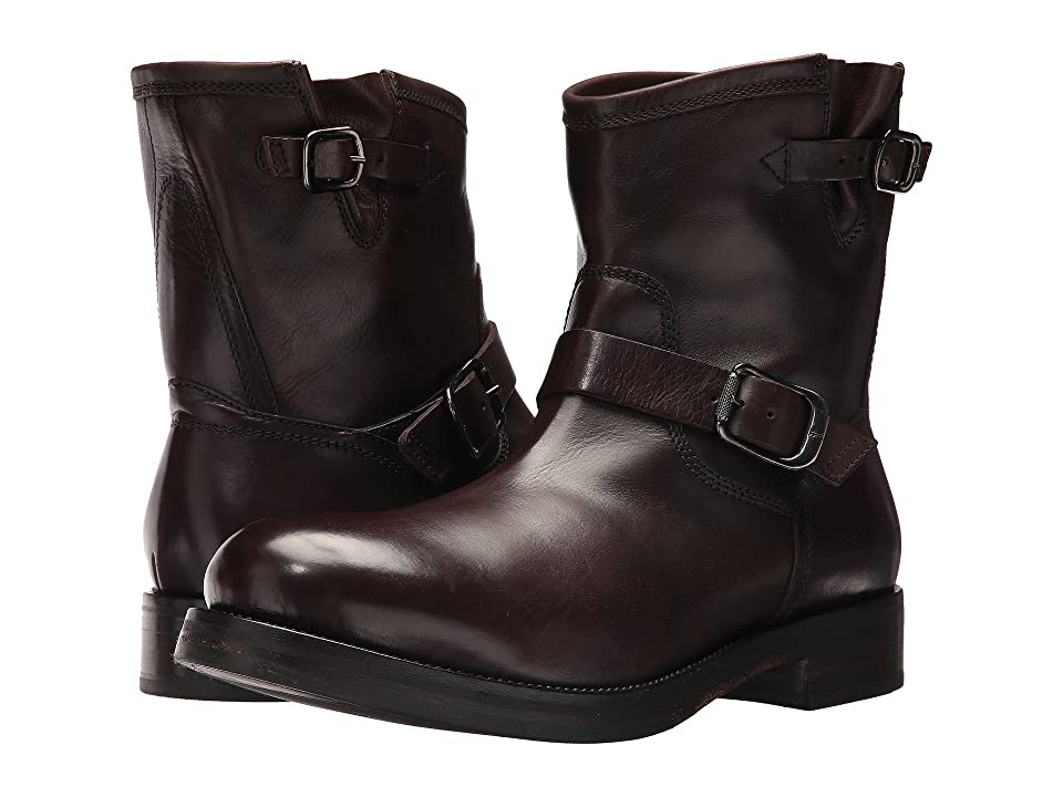 Frye Carter Engineer (Dark Brown Tumbled Waxed Calf) Men