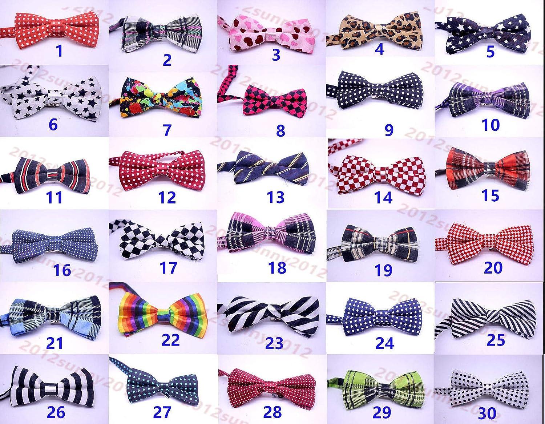 FidgetKute Large 2Layers Pet Dog Tie Necktie Bow Tie Adult's Formal Suit Tuxedo Bowtie Mix colors 20pcs