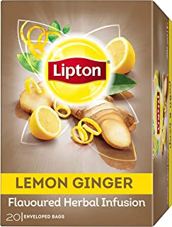 Lipton Herbal Infusion Tea Bags - Lemon Ginger, 20s