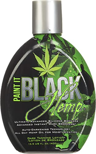 Millennium Tanning Products - Paint It Black Hemp Bronzer & Dark Tanning Lotion - 13.5 Ounce