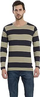 Alan Jones Striped Men's Round Neck Cotton T-Shirt