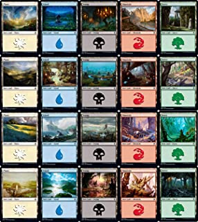 Magic: the Gathering Throne of Eldraine Basic Land Set (1 Each of 20)