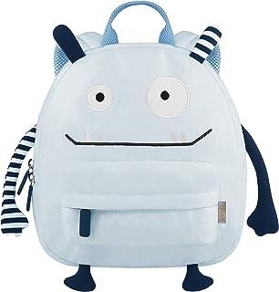 Monster - Mochila infantil para guardería, para niños y niñas, de 3 a 6 años, de algodón, color azul