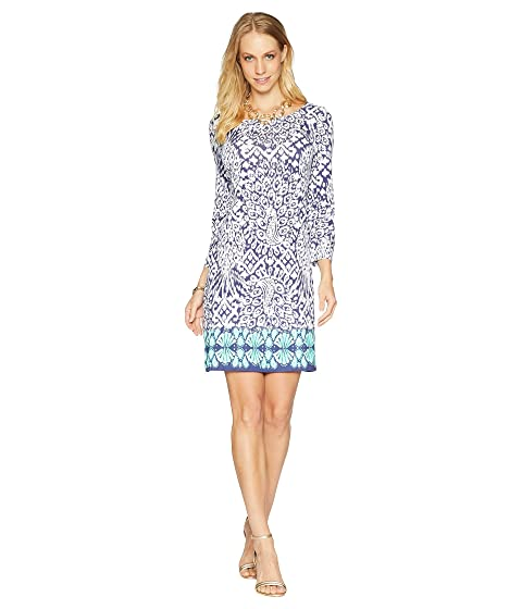 Lilly Pulitzer , BRIGHT NAVY PINEAPPLE PARTY ENGINEERED KNIT