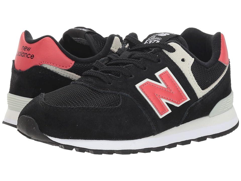 New Balance Kids GC574v1 (Big Kid) (Black/Pomelo) Boys Shoes