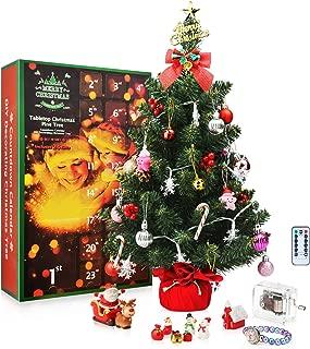 SWEET DIARY Christmas Advent Calendar Tabletop Christmas Tree 2019 Countdown Calendar 24 Days, 22