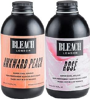 Bleach London Super Cool Colours Rose x 150ml & Bleach London Super Cool Colours Awkward Peach x 150ml by Bleach London