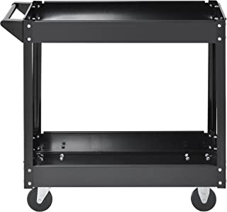 Muscle Rack SC3016 Industrial Black Commercial Service Cart, Steel, 220Lbs Capacity, 33