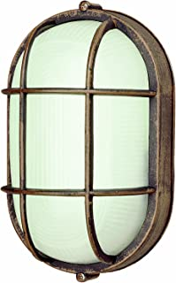 Trans Globe Lighting 41005 RT 8-1/2-Inch 1-Light Medium Outdoor Bulkhead, Rust
